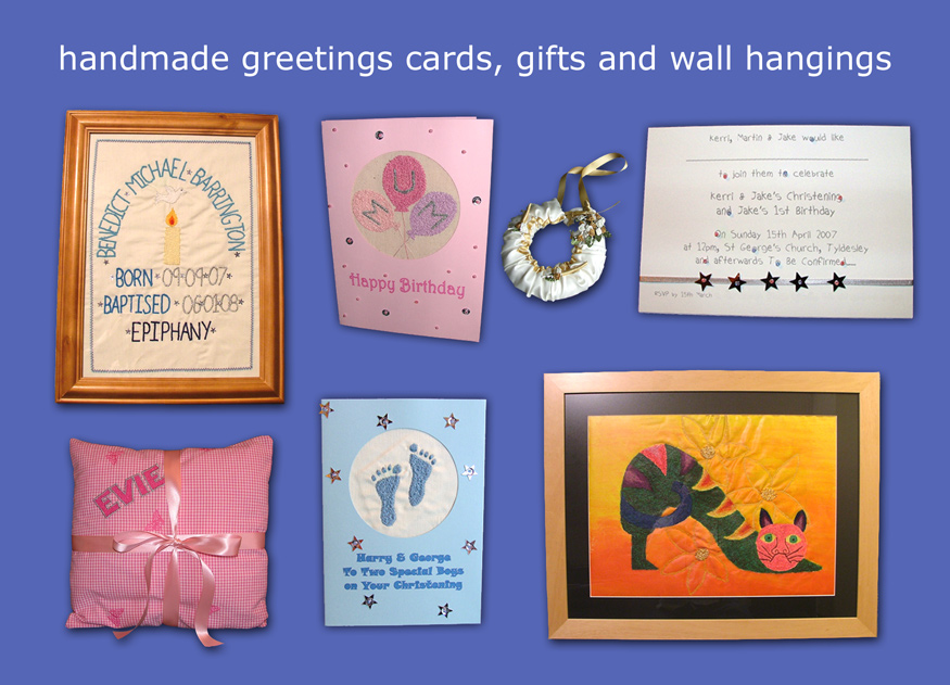 hand made greetings cards, gifts and wall hangings