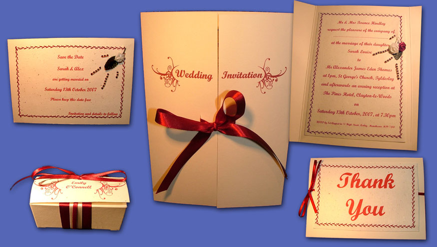 wedding stationary package