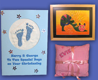 greetins cards, wall hangings and soft furnishings